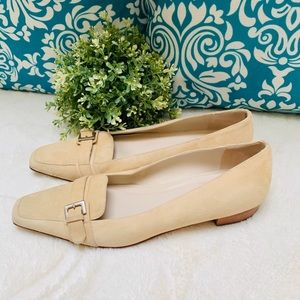 Talbots Tan Suede Leather Flat